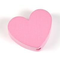 Motivpärla hjärta, rosa