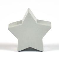 Motivpärla stjärna, ljusgrå