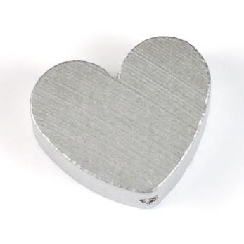 Motivpärla hjärta, silver