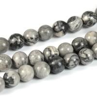 Netstone pärlor, grå, 6mm