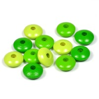 Trälinser grön-mix