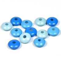 Trälinser blå-mix