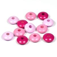 Trälinser rosa-mix