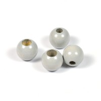 Säkerhetspärlor ljusgrå, 10mm