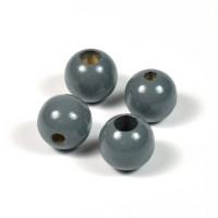 Säkerhetspärlor mörkgrå, 12mm