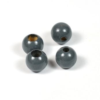 Säkerhetspärlor mörkgrå, 10mm
