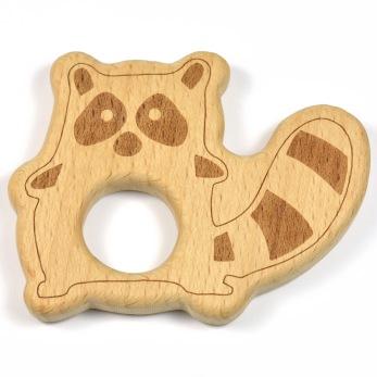 Naturlig träfigur, tvättbjörn