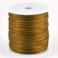 Satinsnöre, guld, 1,5mm
