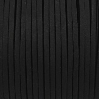 Konstmockasnöre svart, 3x1,5mm