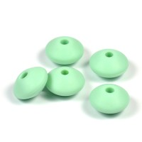 Silikonlinser 12mm, mint, 5-pack