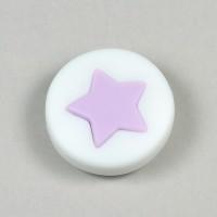 Silikonpärla med liten stjärna, lavendel – utförsäljning