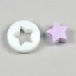 Silikonpärla med liten stjärna, lavendel