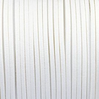 Konstmockasnöre vit, 3x1,5mm