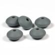 Silikonlinser 12mm, mörkgrå