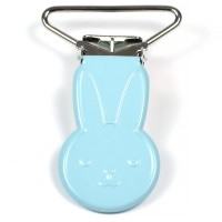 Metallclips kanin, ljusblå