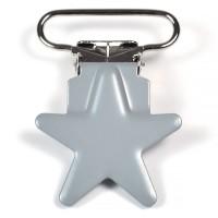 Metallclips stjärna, grå
