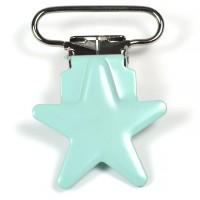 Metallclips stjärna, mint