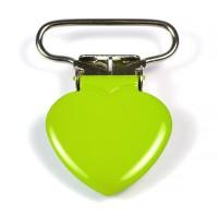 Metallclips hjärta, ljusgrön