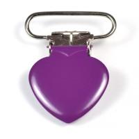 Metallclips hjärta, plommon