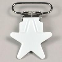 Metallclips stjärna, vit