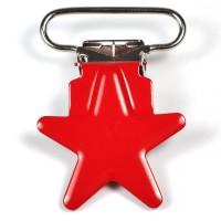 Metallclips stjärna, röd
