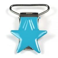 Metallclips stjärna, turkos