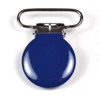 Metallclips rund, marinblå