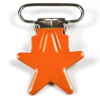 Metallclips stjärna, orange