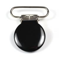 Metallclips rund, svart