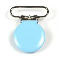 Metallclips rund, ljusblå