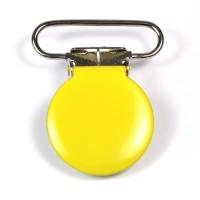 Metallclips rund, gul