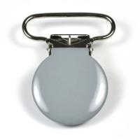 Metallclips rund, grå