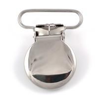 Metallclips rund, silver