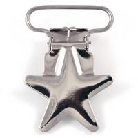 Metallclips stjärna, silver