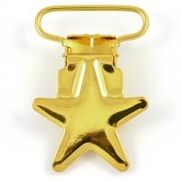 Metallclips stjärna, guld