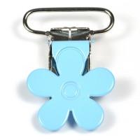 Metallclips blomma, ljusblå