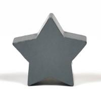 Motivpärla stjärna, mörkgrå