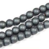 Frostade hematit pärlor, 6mm