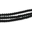 Syntetiska black stone pärlor, mattsvart, 4mm