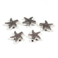 Sjöstjärna i metall, antiksilver, 10x10mm