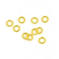 Enkla motringar, guld, 5mm