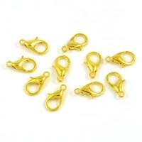 Klolås, guld, 12mm