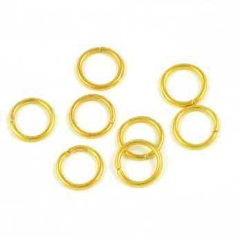 Enkla motringar, guld, 10mm