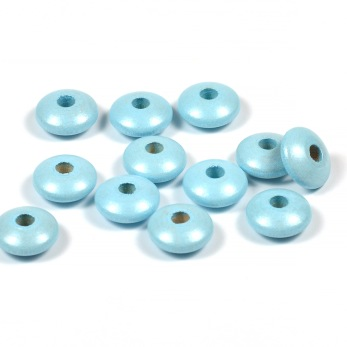 Trälinser, pärlemor-ljusblå