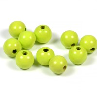 Träpärlor lime, 10mm