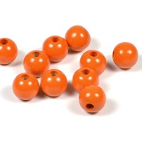 Träpärlor orange, 10mm