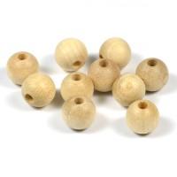 Träpärlor, obehandlade, 10mm
