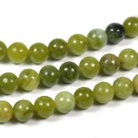 Jade pärlor, oliv, 6mm
