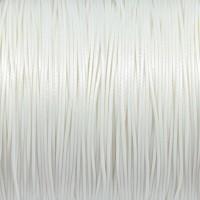 Vaxat polyestersnöre, vit, 0,8mm