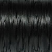 Vaxat polyestersnöre, svart, 0,8mm